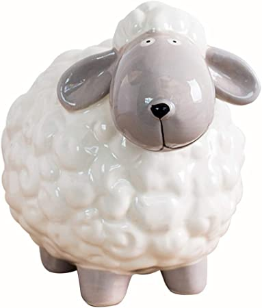 Huchas Ahorro Dinero Caja Europea Hucha Creativo ovejas Modelado Regalo Creativo Decorativo Caja de cerámica Cajas de Dinero Grande Banco de Moneda Huchas: Amazon.es: Hogar