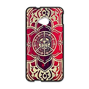 peace and justice obey Red star flowers Cell Phone Case for HTC One M7
