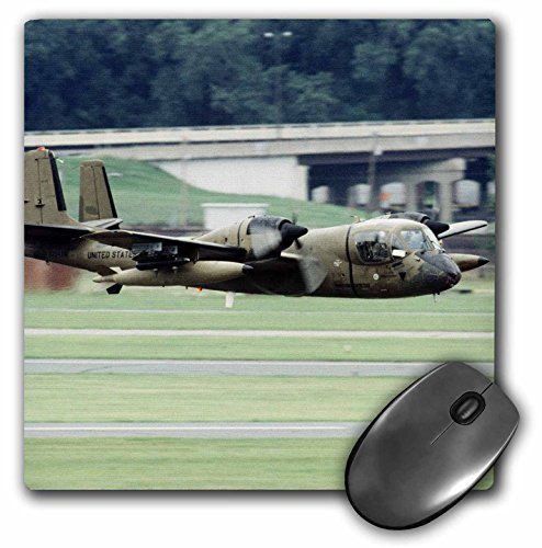 (3dRose LLC 8 x 8 x 0.25 Inches Grumman OV-1 Mohawk War Plane Bernard Friel Mouse Pad (mp_91295_1))