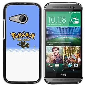 LECELL--Funda protectora / Cubierta / Piel For HTC ONE MINI 2 / M8 MINI -- P0kemon Oro --