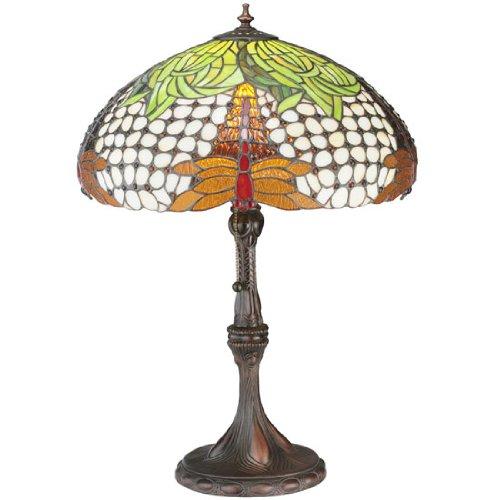 Meyda Tiffany Hanginghead Dragonfly Multi-Color Table Lamp ()