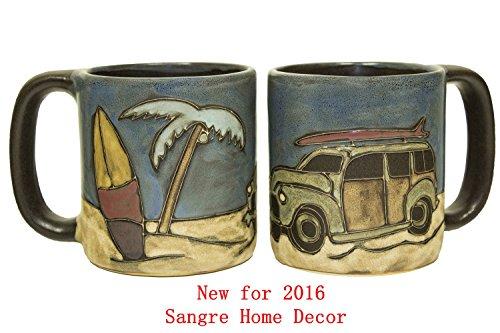 Woody Surf Wagon (Mara Stoneware Mug - Woody Surf Wagon - 16 oz - New Fall 2015 - Set of 2 Mugs)