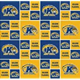 "Kent State By Sykel -100% Polyester Fleece, 60"" Wide By the Yard"