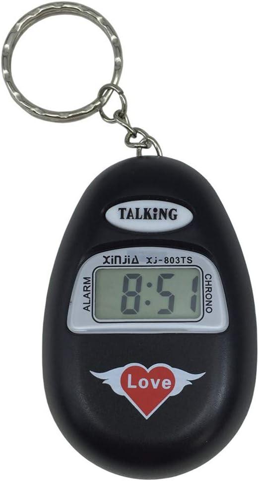 VISIONU Reloj Llavero Parlante en Español, Alarma LCD