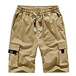 TieNew Homme Militaire Cargo Short de Loisir Travail Casual Imprimé Camouflage Bermuda Pantalon Court Multi Poches… 6