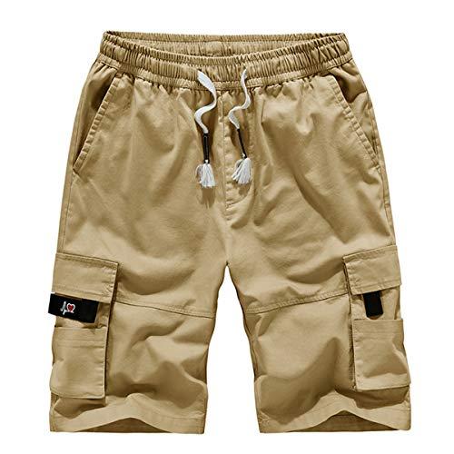 TieNew Homme Militaire Cargo Short de Loisir Travail Casual Imprimé Camouflage Bermuda Pantalon Court Multi Poches… 1