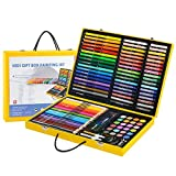 LLZJ Art Drawing Sets Children Student School Coloured Design Brush Gifts Professional Creative Supplies Stationery Birthday Present Pencils Painting Kids Watercolor Pen, 122 orange box suits