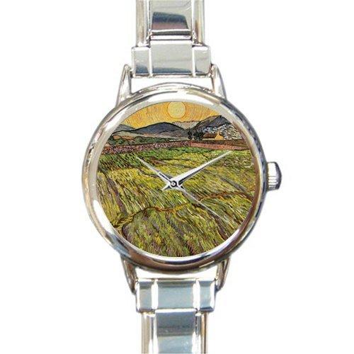 Personalized Watch Van Gogh Pastoral Art Round Italian Charm stainless steel Watch