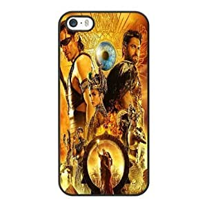 Generic Fashion Hard Back Case Cover Fit for iPhone 5 5S Cell Phone Case black Gods of Egypt with Free Tempered Glass Screen Protector PKL-6034351