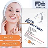 GAISTEN Acne Patch, Acne Pimple Master Patch 40 Patches, Hydrocolloid Drug-Free Non-Drying Absorbing Dressing Bandages Cover, Invisible Concealing Spot Patches Acne Treatment Skin Trouble Care Sticker