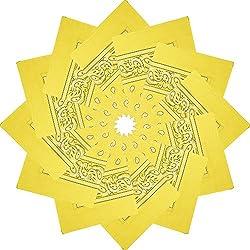 Alotpower 12 Pack Bandanas Headbands Napkin Handkerchiefs for Daily Use,Light Yellow