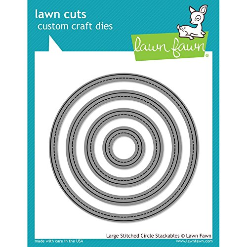 Lawn Fawn Large Stitched Circle Stackables Custom Craft Dies (Stitched Circles)