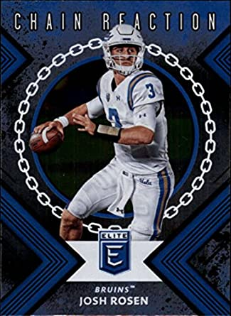 8135d24ca 2018 Panini Elite Draft Picks Chain Reaction #9 Josh Rosen UCLA Bruins
