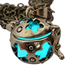 UMBRELLALABORATORY Wishing ball Fairy Magical Fairy Glow in the Dark Necklace-aqua-bronze 8