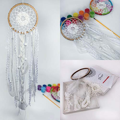 Omterior Dream Catcher Kit for Princess and Prince DIY Kids Craft Kits for Teens Dreamcatcher Make Your Own Gift Dia 4,5