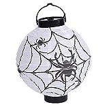 LAAT 1PC Creative Halloween Hanging Lanterns Fashion Paper Lanterns Light Lamp for Halloween Party Decoration (White)