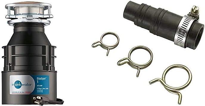 Badger 1 HP Continuous Feed Black InSinkErator Garbage Disposal ...