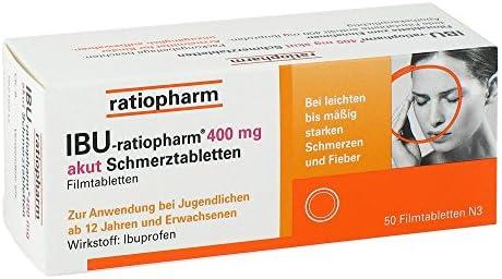 IBU-ratiopharm akut 400 mg Schmerztabletten, 50 St. Tabletten