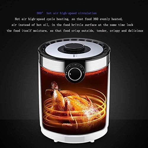 PULLEY-S Compact Air Friteuse électrique Friteuse avec Panier, Frites Capacité des ménages Fryer Hors Tension Automatique et synchronisation Fonction S