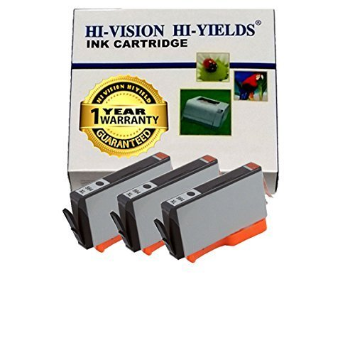 (HI-VISION HI-YIELDS Compatible Ink Cartridge Replacement for Hewlett-Packard (HP) 564XL (Photo Black, 3-Pack))