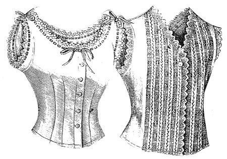 Victorian Lingerie – Underwear, Petticoat, Bloomers, Chemise 1901 3 Corset Covers $10.75 AT vintagedancer.com