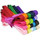 """Hip Girl Boutique 40yd (20x2yd) 3/8"""" Solid Grosgrain Ribbon Value Pack"""
