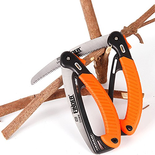 Heavy Duty Professional Folding Pruning Saw with 9-inch Curved Blade, Best Folding Hand Saw for Pruning Trees, Trimming Branches, Camping, Clearing Forest Trails. by Janchi (Image #7)