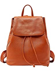 Genuine Leather Backpack for Women Elegant Ladies Travel School Shoulder Bag