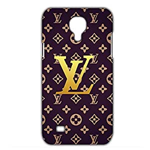 Classic Louis and Vuitton White and Black Pinted Case Customized Thin Durrable Plastic 3D Case Cover L6M011 For Samsung Galaxy S4 mini_3D