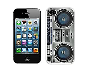 Cheap Boombox Iphone 4 Case 4s White Cover Personalized Cell Phone Accessories