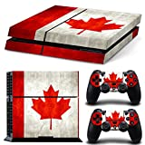"PS4 Design Skin ""flag of Canada"" Decal Sticker for PlayStation 4 Console and Controllers-Size 2132"