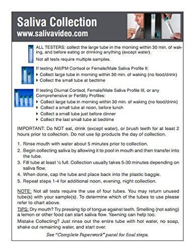 Fertility Profile Home Hormone Test Kit (Saliva: Cx4; Blood: E2, Pg, T, SHBG, DS, TSH, fT3, fT4, TPO, FSH, LH) - Includes Pre-Paid Sample Return Label by TestCountry/ZRT Laboratory (Image #7)