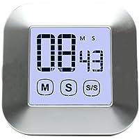 BESTOMZ Temporizador de cocina digital con pantalla táctil