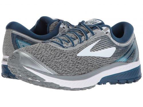 Brooks(ブルックス) メンズ 男性用 シューズ 靴 スニーカー 運動靴 Ghost 10 - Silver/Blue/White [並行輸入品] B07C8FN67W