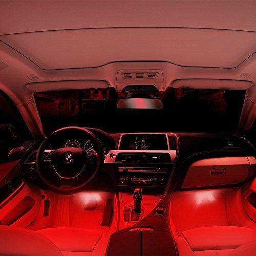 thunder 12v 4 3 led car interior decorative atmosphere neon light lamp best in automotive. Black Bedroom Furniture Sets. Home Design Ideas