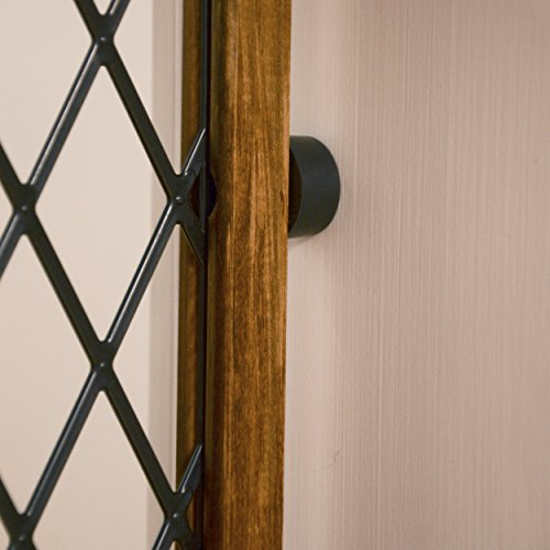 Evenflo Position and Lock Farmhouse Pressure Mount Gate, Dark Wood by Evenflo (Image #5)