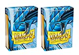 Dragon Shield Bundle: 2 Packs of 60 Count Japanese Size Mini Matte Card Sleeves - Matte Sky Blue