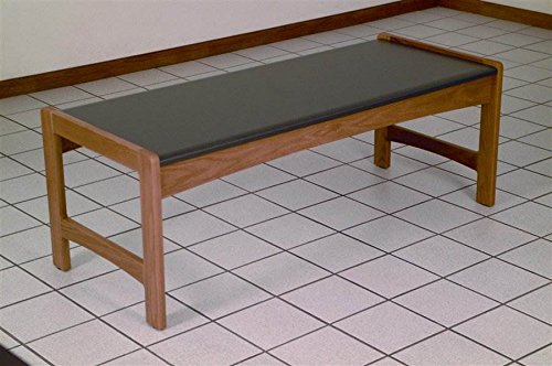 Modern Solid Wood Coffee Table w Black Melamine Top - Dakota Wave (Medium Oak) by Wooden Mallet (Image #3)