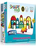 Award Winning Magnetic Stick N Stack 100 piece DELUXE shape set Including 17 different shapes