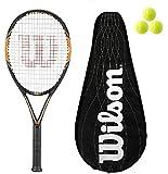 Wilson Nitro Lite 105 BLX Graphite Racchetta Da Tennis L3 with Full BLX Cover + 3 Balls