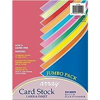 """Tarjeta de Pacon, Surtido Jumbo de Colores, 10 Colores, 8-1 /2 """"x 11"""", 250 Hojas"""
