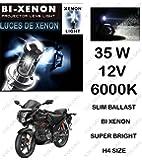 Volga Hid Xenon Head Light Kit For Hero Karizma R H4 6000K Slim Ballast Super Bright