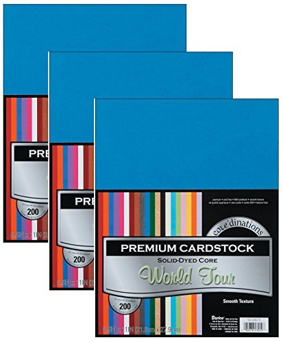 3-Pack - Darice Coredinations Value Pack Cardstock, 8.5 by 11-Inch, 200-sheets each by Darice