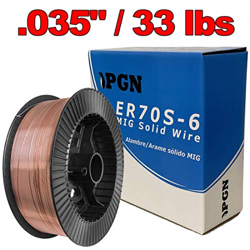 "PGN - ER70S-6 .035"" (0.9 mm) Mild Steel MIG Welding Wire - 33 Lbs Spool"