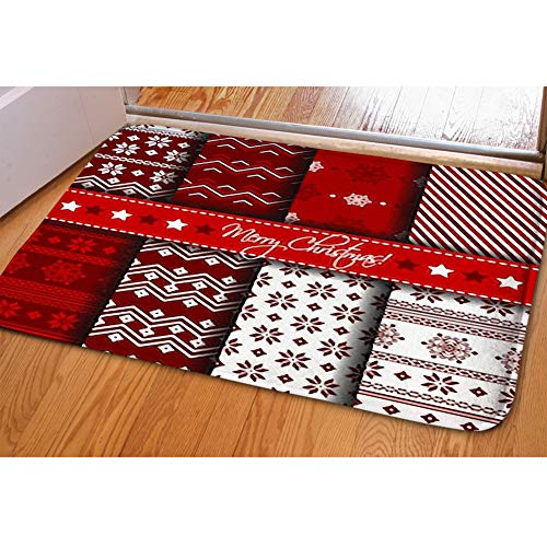 ing Room Carpets Home Decor Rug Bedroom Floor Mats,Collection Seamless Patterns red White ()