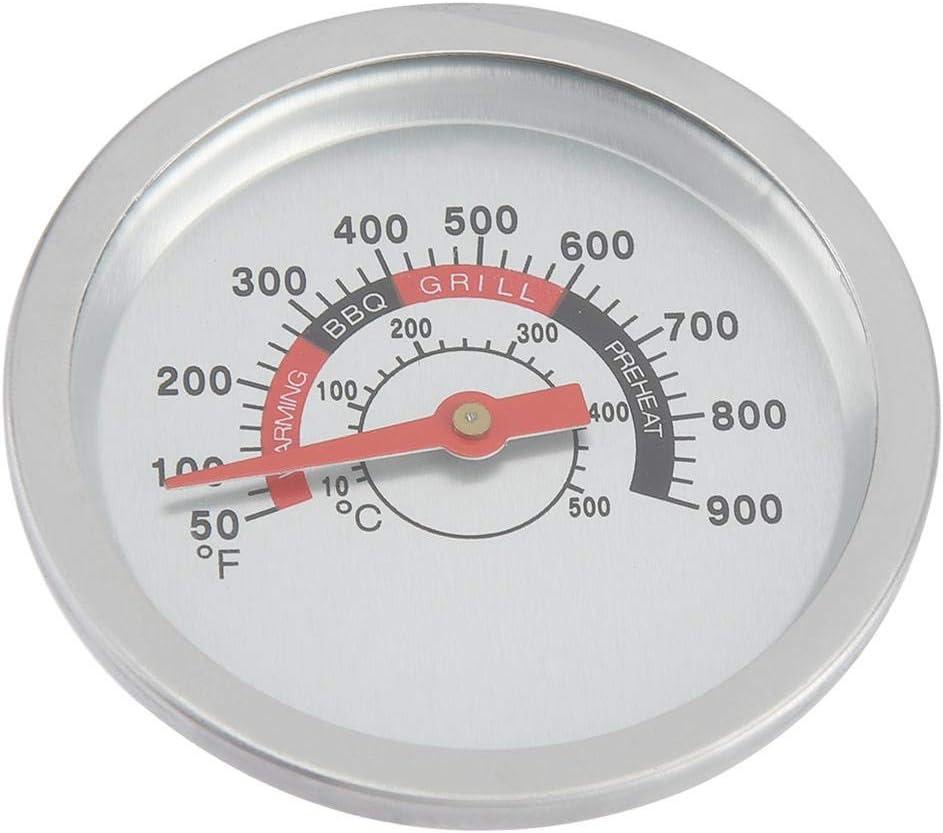 Mumusuki Term/ómetro de Barbacoa de Acero Inoxidable BBQ Smoker Grill Term/ómetro bimet/álico Indicador de Temperatura 50-900 ℉