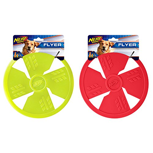 Nerf Dog TPR Float Flyer Flying Disc Dog Toy, Large, , Green