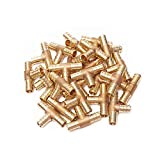PEX 3/4 x 3/4 x 3/4 Inch Barbed Tee - Crimp Fitting - Bag of 25 pcs/Brass / 0.75