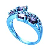 Bamos-Jewelry-Purple-Amethyst-Cubic-Zirconia-Christmas-Best-Friend-Party-Blue-Gold-Womens-Rings-Size-5-11