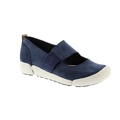 Clarks Ladies Casual Shoes Tri Ava - Navy Leather - UK Size 6.5D - EU